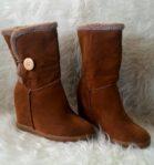 Sepatu Suede Wedges Winter Wanita – MJ109